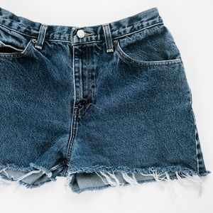 Vintage High Waisted Denim Shorts Size 12